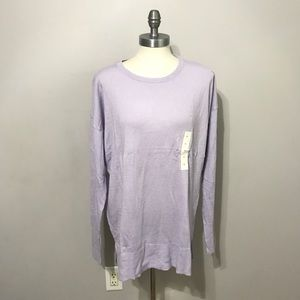 A new Day Lavender sweater XL long sleeve